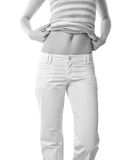 Woman belly royalty free stock photo