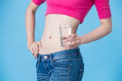 Woman with belly health concept Royalty Free Stock Photos