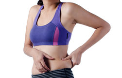 Woman belly problem Stock Photos