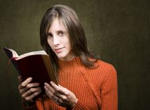 Woman with Bible royalty free stock images