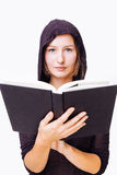 Woman with a bible Royalty Free Stock Photo
