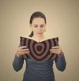 Woman with Bible with target Royalty Free Stock Photos