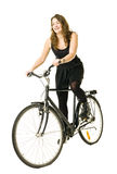Woman on a bicycle Royalty Free Stock Image