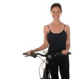 Woman On Bicycle Stock Photo