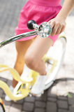 Woman on bicycle. Stock Photos