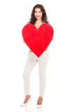Woman big heart Stock Photos