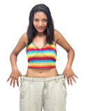 Woman in big pants Stock Photos