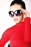 Woman with big sun glasses Royalty Free Stock Image