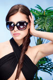 Woman with big sun glasses Stock Image
