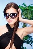 Woman with big sun glasses Stock Image