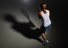 Woman big tennis player Royalty Free Stock Images