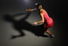 Woman big tennis player Stock Image