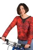 Woman on bike Royalty Free Stock Photo