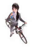 Woman on bike Stock Photography