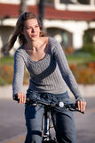 Woman bike ride Royalty Free Stock Image