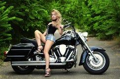 Woman and bike Royalty Free Stock Photo