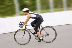Woman on the bike Royalty Free Stock Images