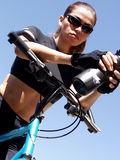 Woman Biker 232 Stock Photo