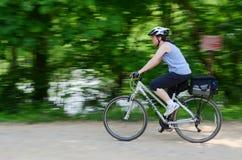 Woman Biking Royalty Free Stock Photo