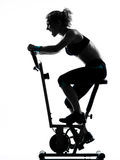 Woman biking workout fitness posture Stock Photos