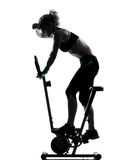 Woman biking workout fitness posture Royalty Free Stock Images