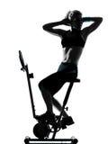 Woman biking workout fitness posture Stock Image