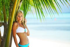 Woman in a bikini Royalty Free Stock Images