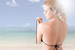 Woman in Bikini From the Back Stock Images