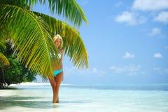 Woman in a bikini Stock Photo