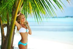 Woman in a bikini Royalty Free Stock Image
