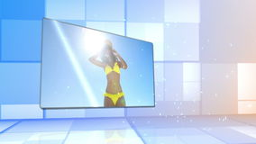 Woman in bikini dancing on the beach Stock Photography