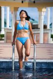 Woman in bikini at spa Stock Image