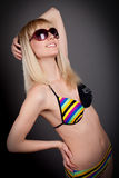 Woman in bikini studio shot Royalty Free Stock Photography