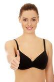 Woman in bikini with thumbs up. Royalty Free Stock Photos