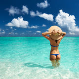 Woman at beach Royalty Free Stock Photography
