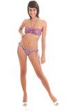 Woman in bikini in white Stock Photo