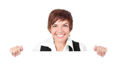 Woman billboard sign Royalty Free Stock Photography