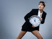 Woman biological clock concept Royalty Free Stock Images
