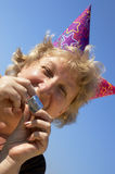 Woman from birhtday party Royalty Free Stock Photos
