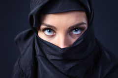 Woman in  black Stock Image