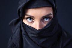 Woman in  black Stock Image