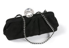 Woman black bag Royalty Free Stock Photography