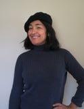 Woman with black beret Stock Photos