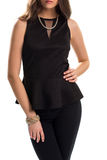 Woman in black blouse. Stock Images