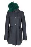 Woman black coat Stock Images