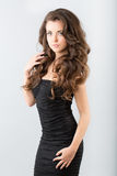 Woman in a black dress Royalty Free Stock Photo