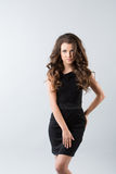 Woman black dress Royalty Free Stock Images