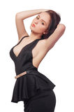 Woman in black dress Stock Image