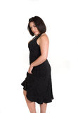 Woman in black dresss Royalty Free Stock Photo