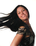 Woman with black hair Stock Images